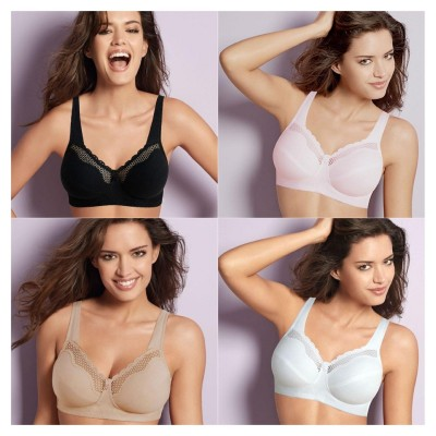 4790243c2b42e Bestform Cotton Comfort 535 Wire Free Bra Black